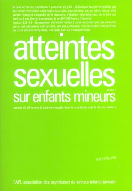 atteintes sexuelles tome 1