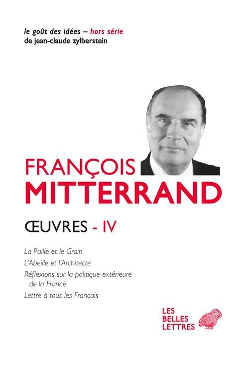 Vente EBooks : OEuvres IV  - François MITTERRAND