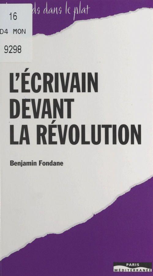 L'écrivain devant la révolution