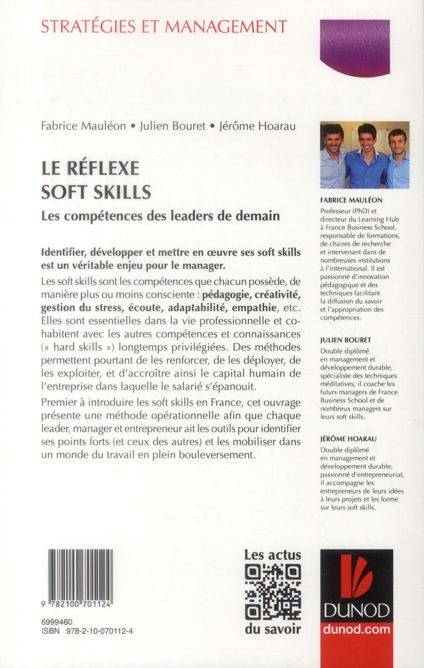 Le réflexe soft skills ; les compétences des leaders de demain
