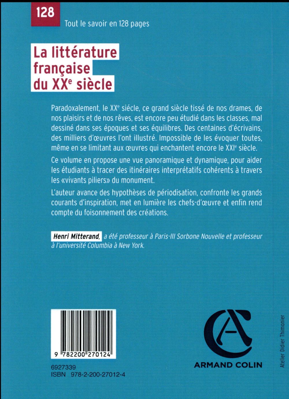 la littérature française du XXe siècle