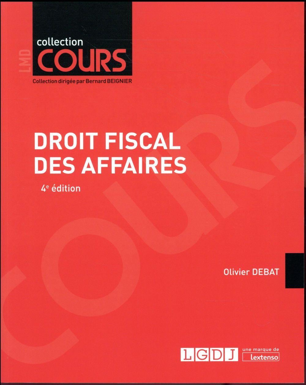 Droit fiscal des affaires (4e édition)