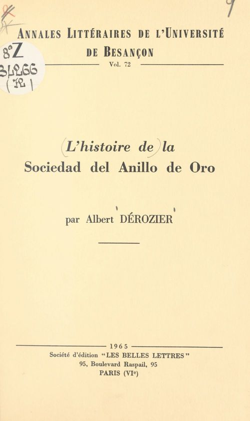 L'histoire de la Sociedad del Anillo de Oro pendant le triennat constitutionnel 1820-1823