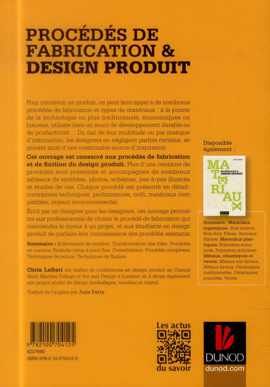 Procédés de fabrication & design produit