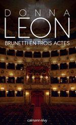 Vente Livre Numérique : Brunetti en trois actes  - Donna Leon