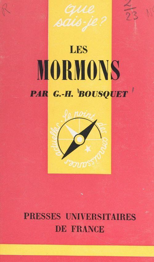 Les Mormons  - Georges-Henri Bousquet
