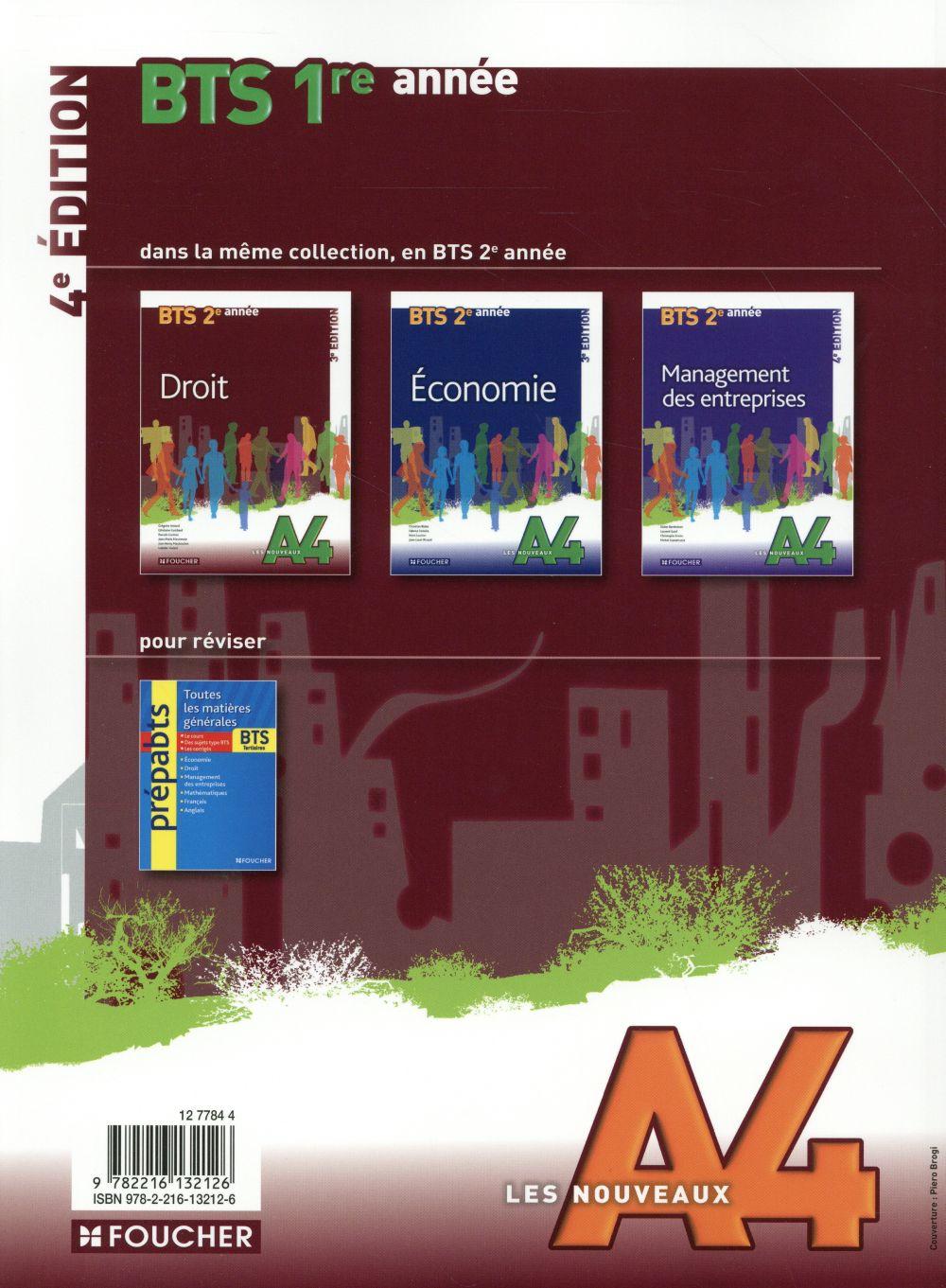 LES NOUVEAUX A4 ; bts ; 1ère année (4e édition)