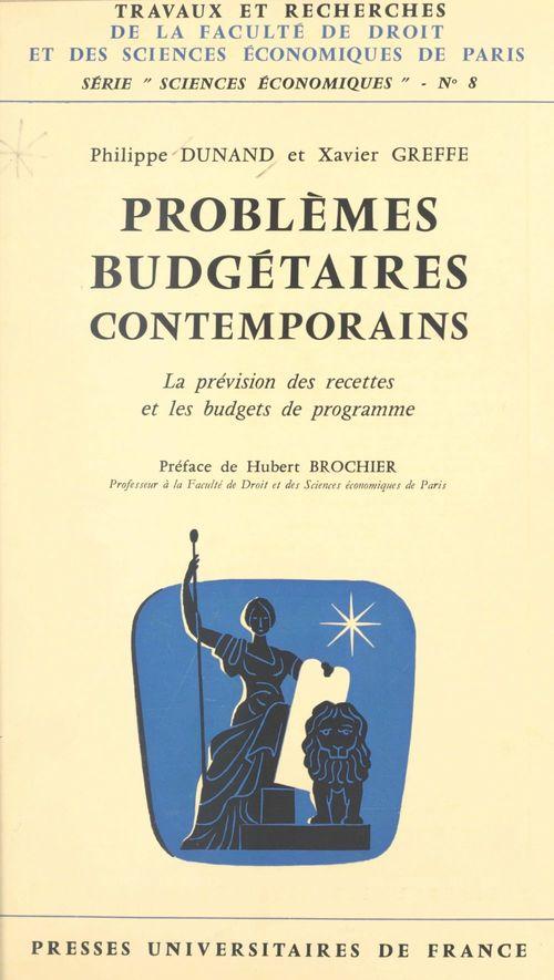 Problèmes budgétaires contemporains