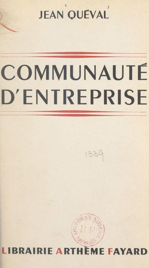 Communauté d'entreprise