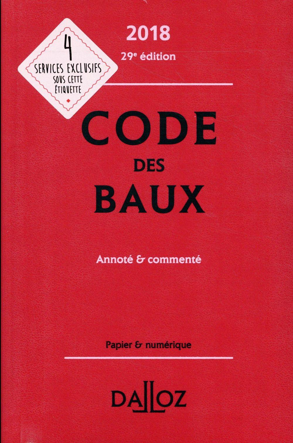 Code des baux commenté (édition 2018)