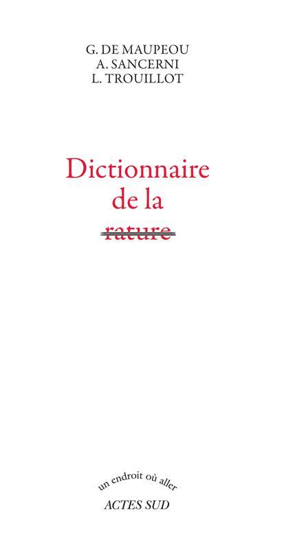 Dictionnaire de la rature