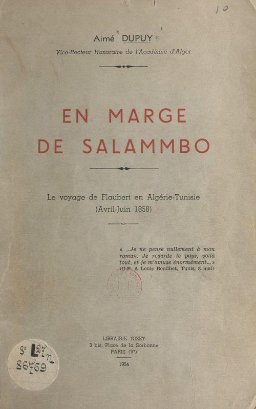 En marge de Salammbô