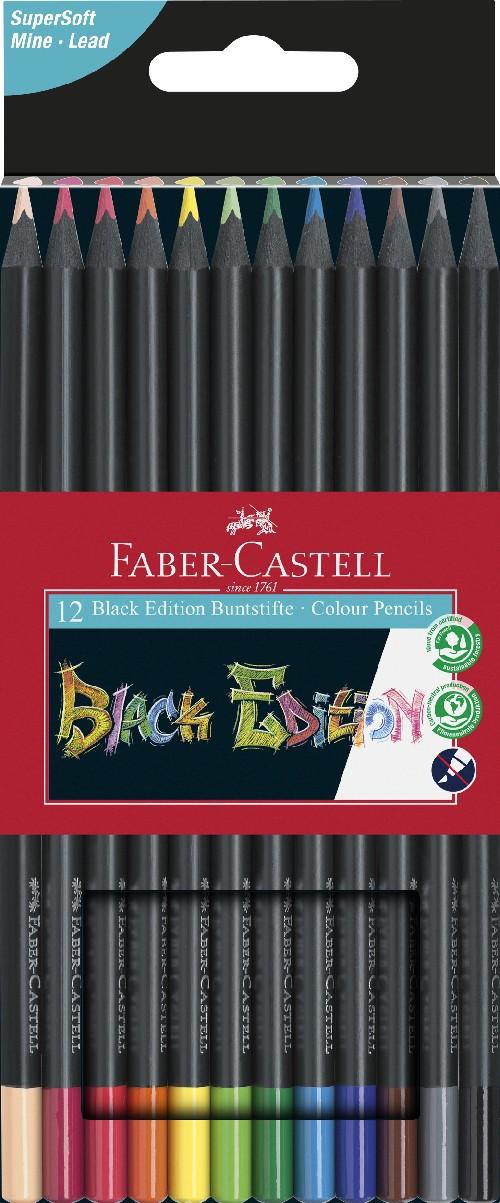 Crayon de couleur Black Edition, étui carton de 12