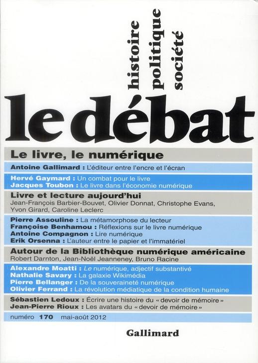 Revue le debat ; mai-juin 2012