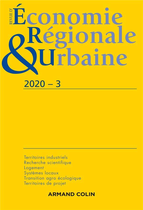 Revue d'économie régionale et urbaine n.2020-3 ; varia