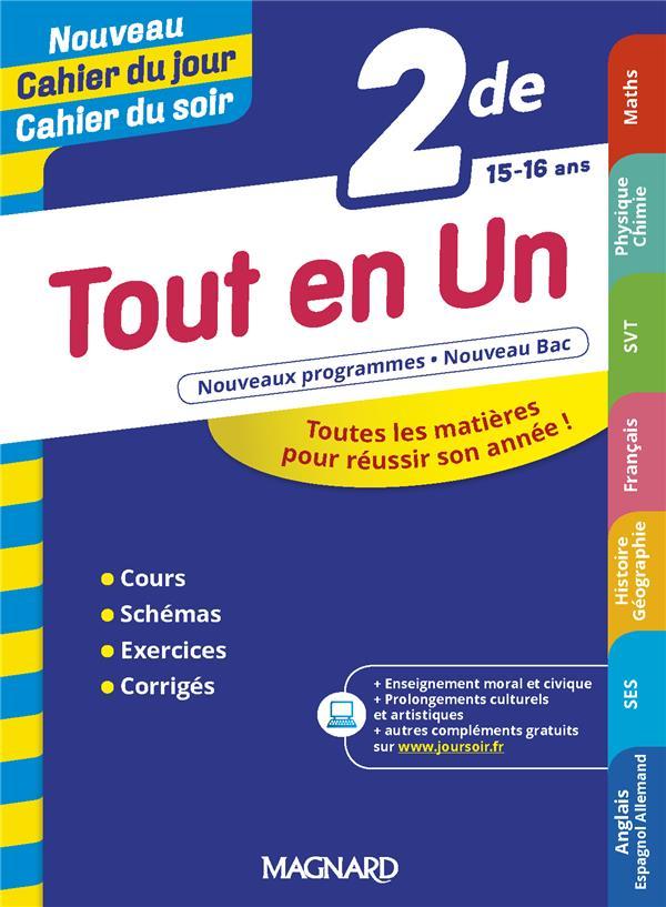 Cahier Du Jour Cahier Du Soir Tout En Un 2de Edition 2019 Collectif Magnard Grand Format Librairie Papyrus Namur