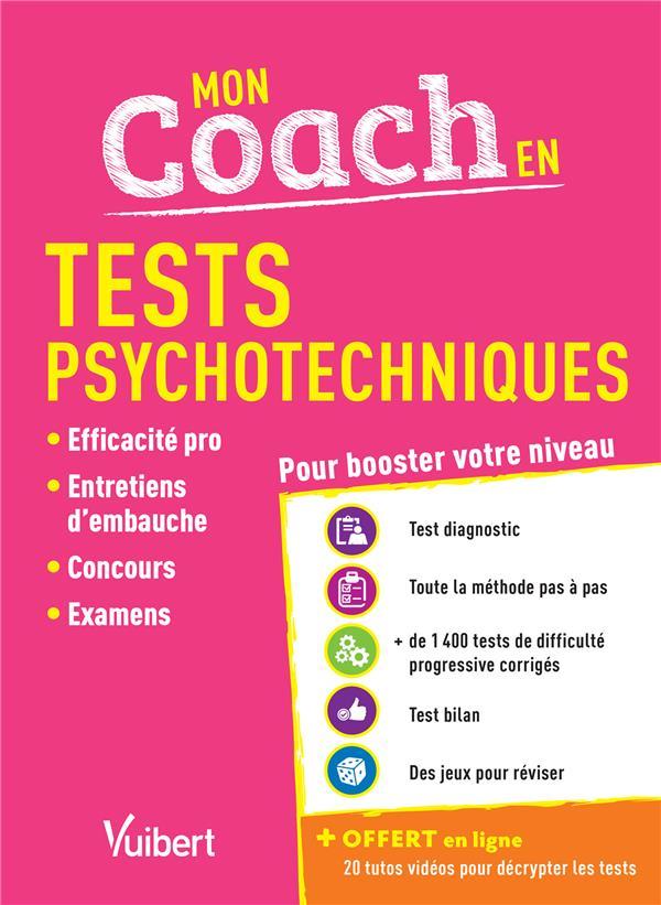 Mon coach en tests psychotechniques ; pour booster votre niveau