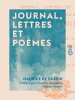 Vente EBooks : Journal, lettres et poèmes  - Charles-Augustin SAINTE-BEUVE - Maurice de Guérin