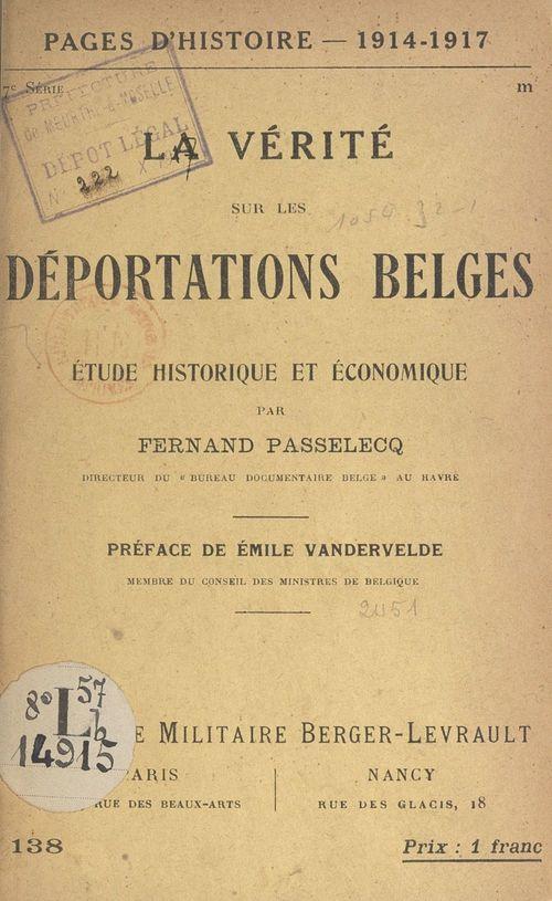 La vérité sur les déportations belges