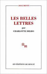 Vente Livre Numérique : Les Belles Lettres  - Charlotte Delbo