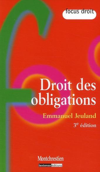 Droit des obligations (3e édition)