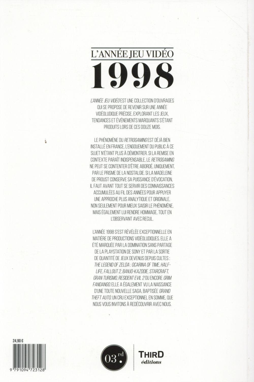 L'année jeu vidéo 1998