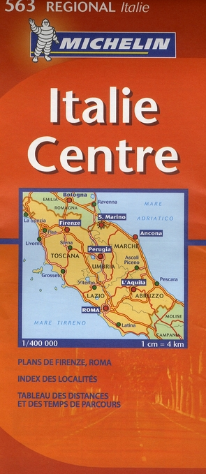 Carte routiere 563 italie centre