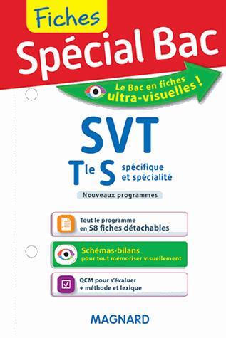 Fiches spécial bac ; SVT ; terminale S