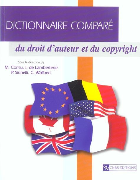 Dictionnaire compare du droit d'auteur et du copyright