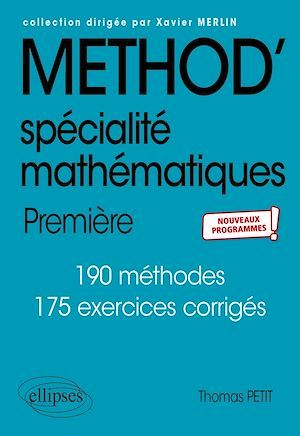 Specialite mathematiques - premiere - nouveaux programmes