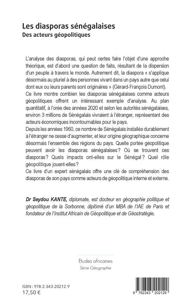 Les diasporas sénégalaises ; des acteurs géopolitiques