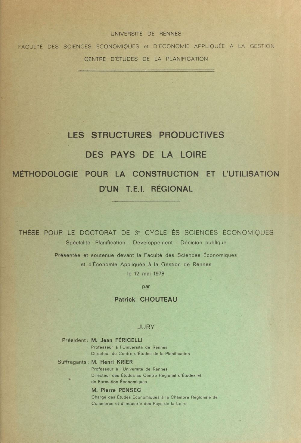 Les structures productives des Pays de la Loire