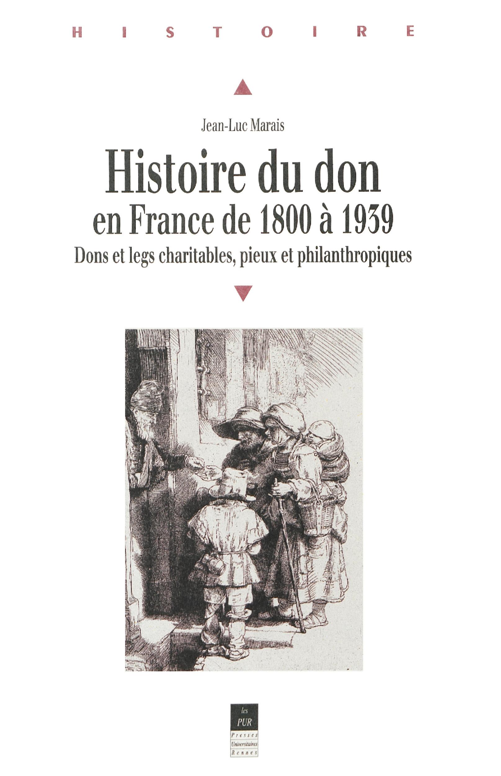 Histoire du don en france de 1800 a 1939