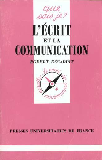 L'ecrit et la communication qsj 1546