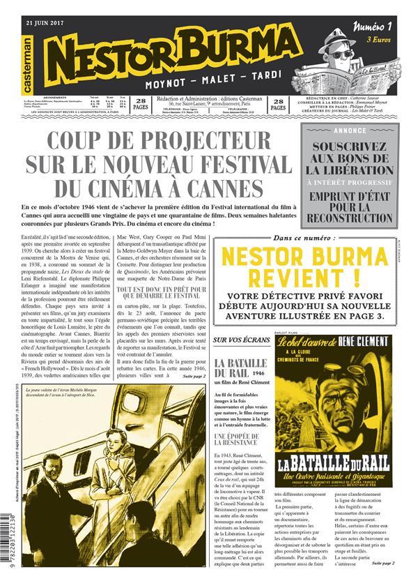 Journal de nestor burma ; l'homme au sang bleu n.1