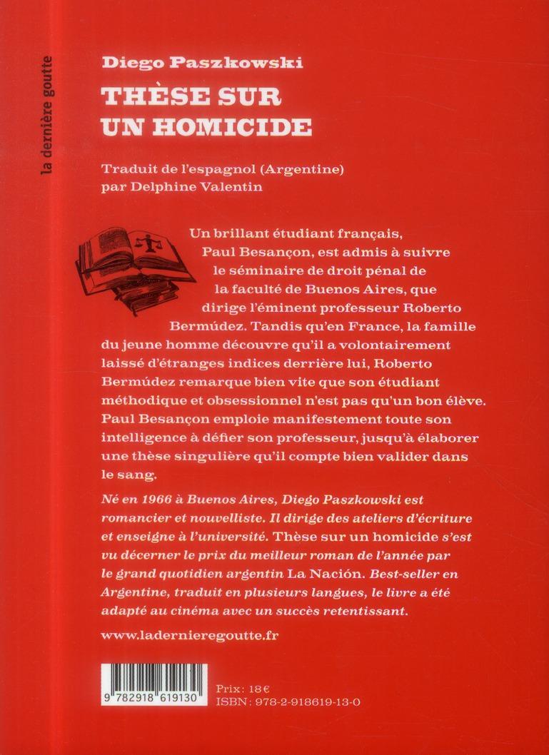 thèse sur un homicide