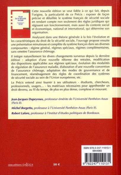 Droit de la sécurité sociale (17e édition)