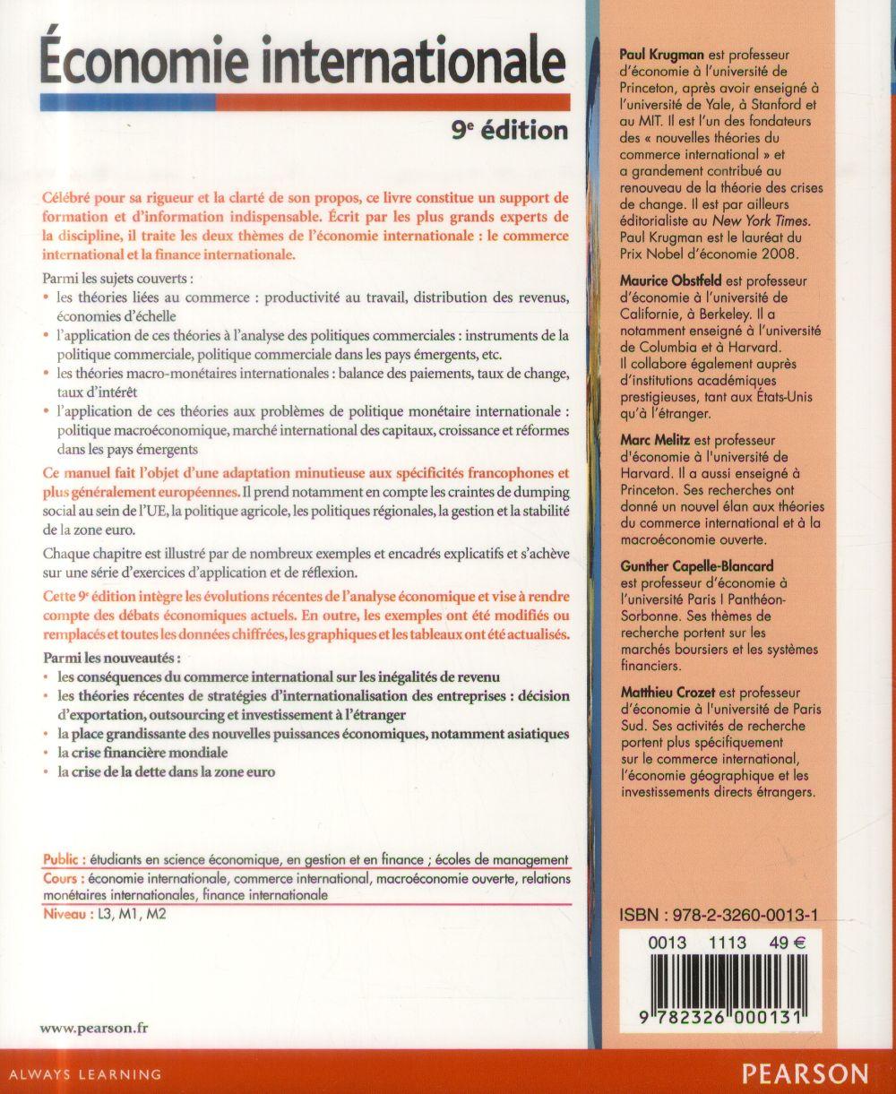 économie internationale (9e édition)