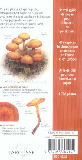 champignons - reconnaitre plus de 440 especes en france et en europe