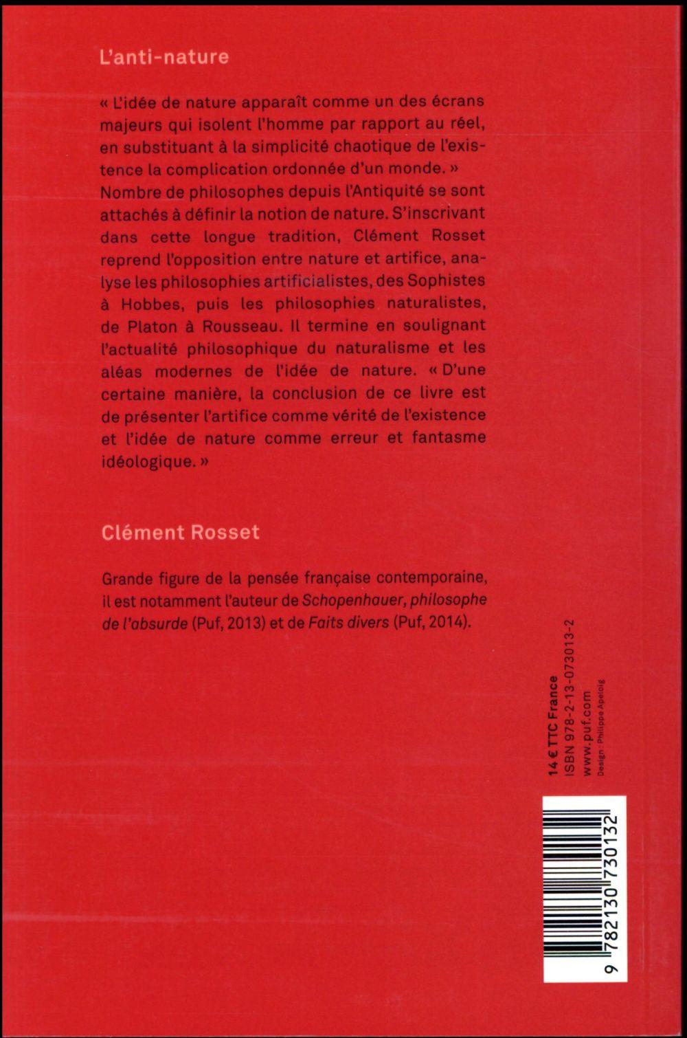 L'anti-nature ; éléments pour une philosophie tragique (6e édition)