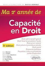 Vente Livre Numérique : Ma deuxième année de Capacité en Droit- 5e édition  - David Bonnet - Hervé Faupin - Pierre-Hubert Goutierre - Magdy Habchy