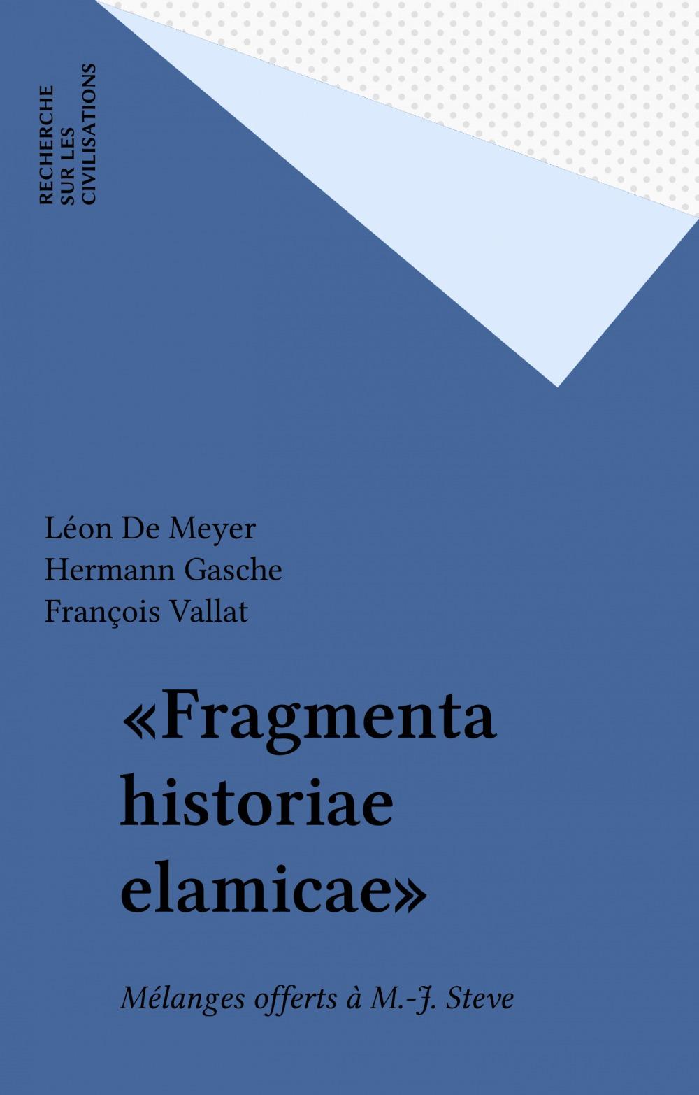 «Fragmenta historiae elamicae»