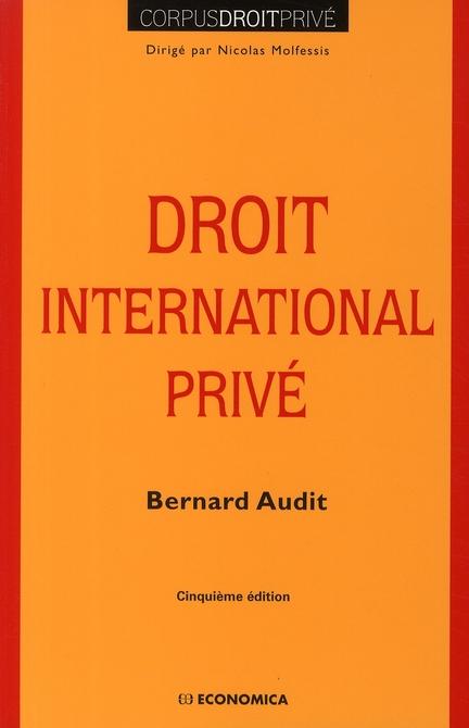 Droit international privé (5e édition)