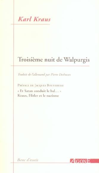 Troisieme nuit de walpurgis
