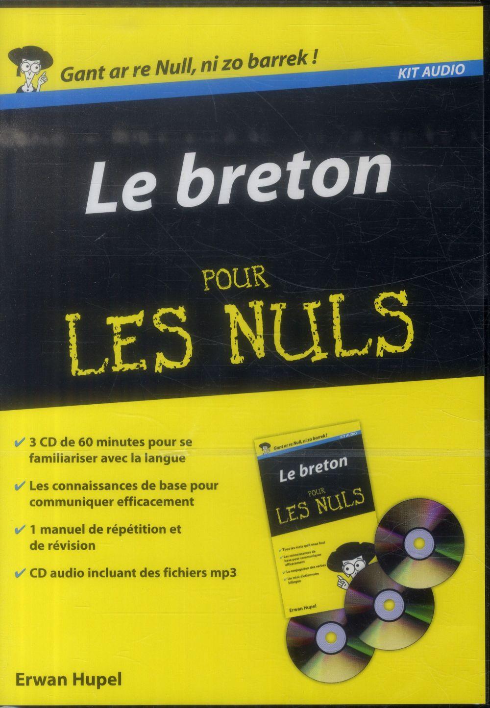 Le breton pour les nuls ; kit audio
