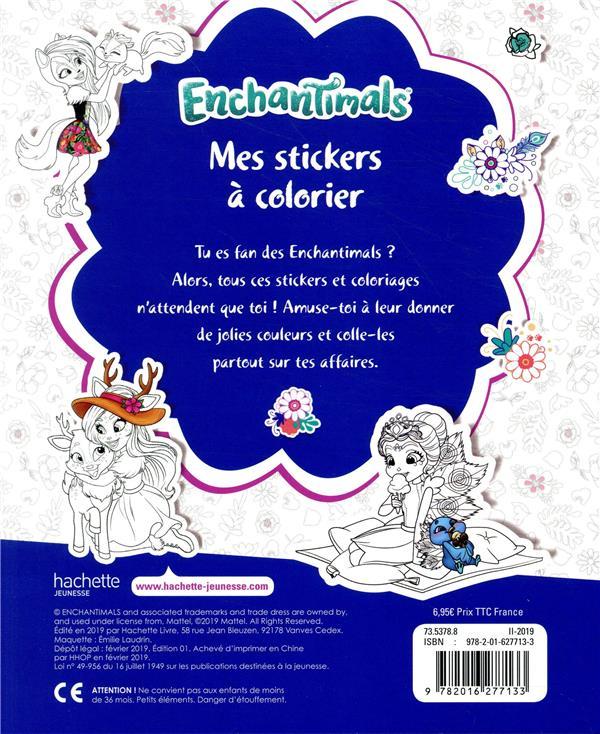 Coloriage A Imprimer Enchantimals.Enchantimals Stickers A Colorier Collectif Hachette