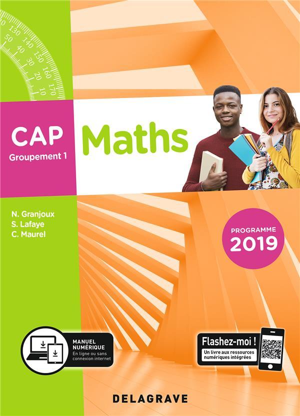 Maths ; CAP, groupement 1 ; pochette élève (édition 2019)