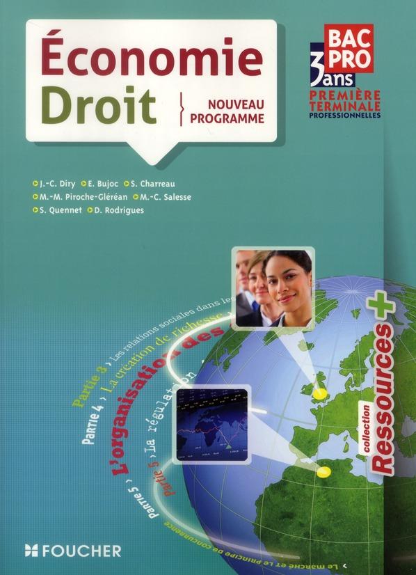 économie-droit ; 1ère terminale BEP (édition 2011)