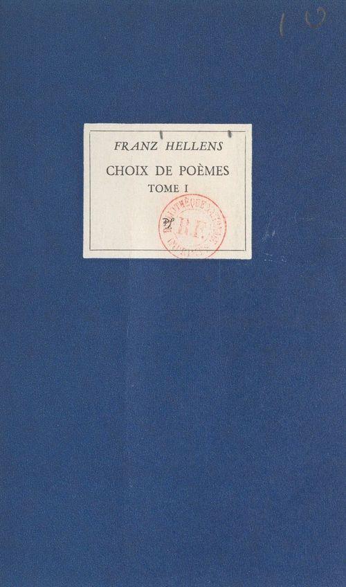 Choix de poèmes (1)