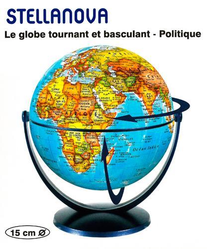 GLOBE 15 CM POLITIQUE TOURNANT et BASCULANT